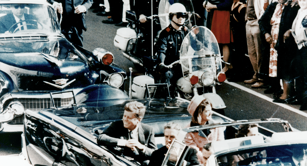President Kennedy in Dallas, moments before the assassination.