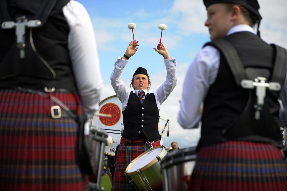 مسابقه World Pipe Band Championships در گلاسکو