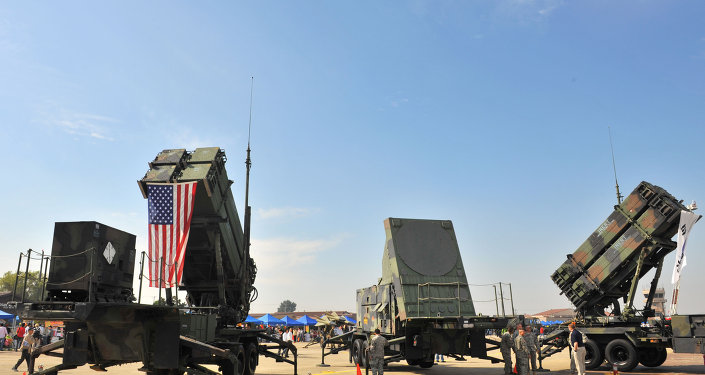 A US Army's Patriot Surface-to Air missile system is displayed during the Air Power Day at the US airbase in Osan, south of Seoul.